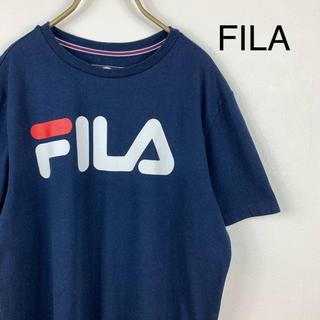 フィラ(FILA)の【FILA】フィラ ビッグロゴ古着Tシャツ ネイビー(Tシャツ/カットソー(半袖/袖なし))