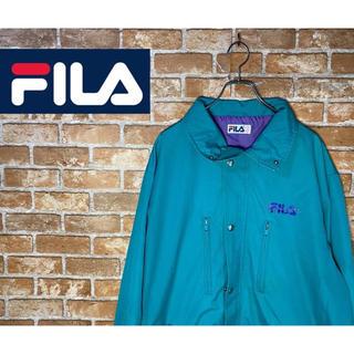 フィラ(FILA)の【激レア】FILA  アウター ジャケット ワンポイント刺繍ロゴ レア色 2XL(ナイロンジャケット)