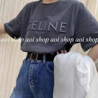 立体刺繍ロゴ Tシャツ glay パロディCELINE