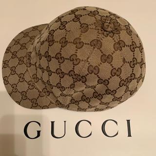 グッチ(Gucci)のグッチ チルドレン GGキャンバス ハット キャップ 美品 L(その他)