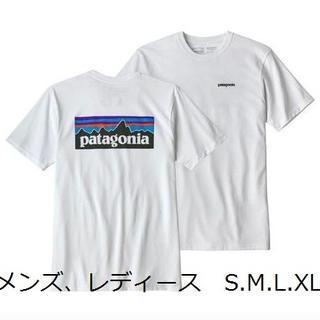 パタゴニア(patagonia)のパタゴニア 白 patagonia P6 ベストセラー クラシックロゴ レトロ(Tシャツ(半袖/袖なし))