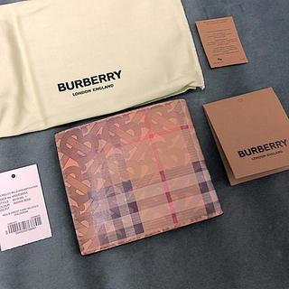 バーバリー(BURBERRY)の新品 2019秋冬 バーバリー BURBERRY 2つ折り財布 ベージュ(折り財布)
