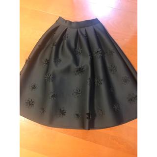 ディーホリック(dholic)のボンディングスカート ブラック(ひざ丈スカート)