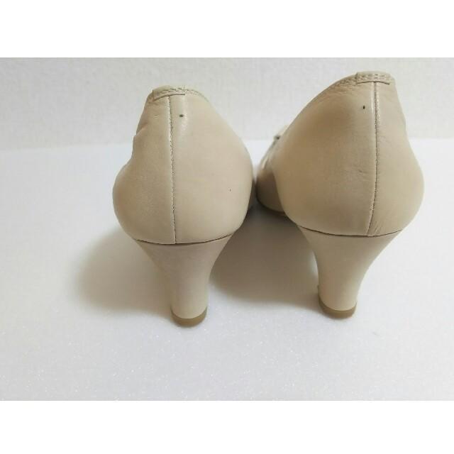 あしながおじさん(アシナガオジサン)のサイズ24cm あしながおじさん ヒールパンプス 本革 レザー リボン ベージュ レディースの靴/シューズ(ハイヒール/パンプス)の商品写真