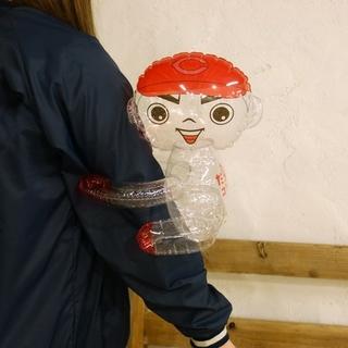 ヒロシマトウヨウカープ(広島東洋カープ)のカープ坊や ビニール人形(応援グッズ)