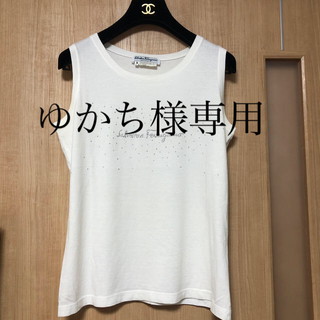 サルヴァトーレフェラガモ(Salvatore Ferragamo)のサルヴァトーレフェラガモのノースリーブ(Tシャツ(半袖/袖なし))