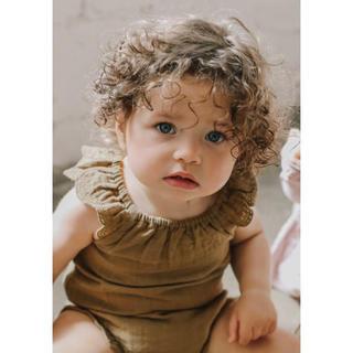 キャラメルベビー&チャイルド(Caramel baby&child )のJamie Kay オーガニックコットン モスリン ロンパース 新生児(ロンパース)