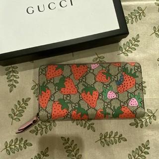 Gucci - GUCCIグッチ  いちご  ピンク  長財布