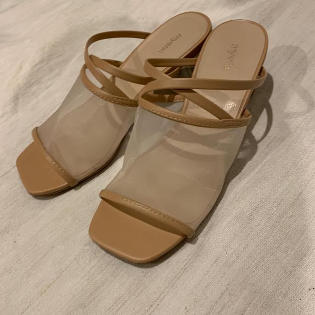 mystic(ミスティック)の36  チュールクリアヒールサンダル mystic レディースの靴/シューズ(サンダル)の商品写真
