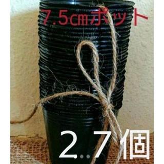 黒ポリポット7.5㎝ 27個➕花の種(プランター)