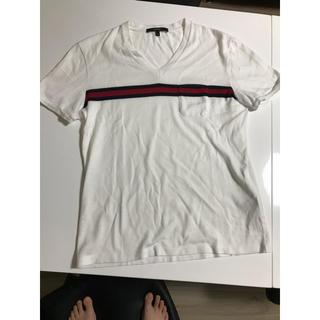 グッチ(Gucci)のGUCCI グッチ 本物 Vネックライン Tシャツ S(Tシャツ/カットソー(半袖/袖なし))