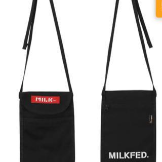 MILKFED. - FLAT SHOULDER BAG ショルダー バッグ ミルクフェド