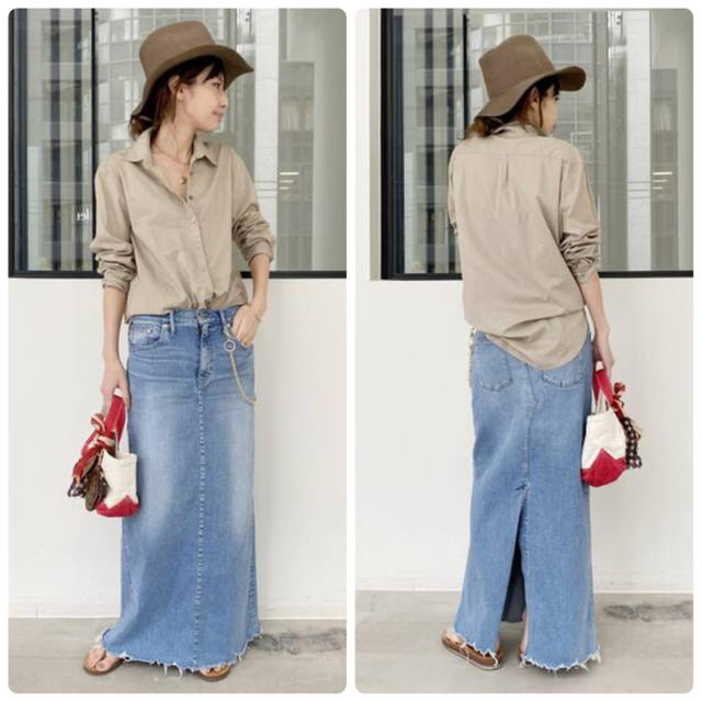 L'Appartement DEUXIEME CLASSE(アパルトモンドゥーズィエムクラス)のL'Appartement GOOD GRIEF DENIM LONG スカート レディースのスカート(ロングスカート)の商品写真