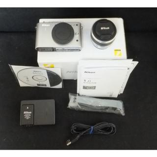 ニコン(Nikon)の撮影数1048枚 ニコンNikon 1 J1 シルバーズームレンズ付き (ミラーレス一眼)