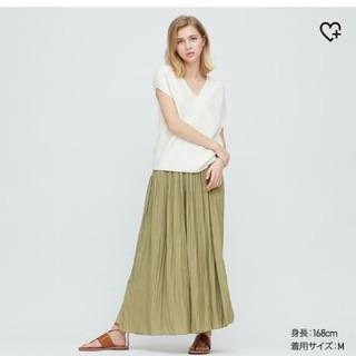 UNIQLO - ワッシャーサテンスカートパンツ★Lサイズ