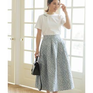 FRAY I.D - 高田麻紀子さんコラボ ジャガードミモレスカート