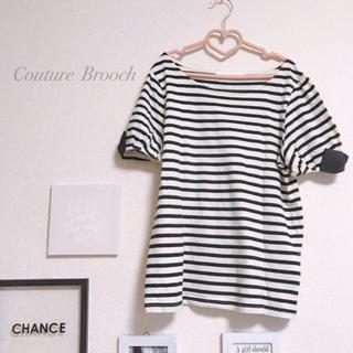 クチュールブローチ(Couture Brooch)のクチュールブローチ 半袖 袖リボン(カットソー(半袖/袖なし))
