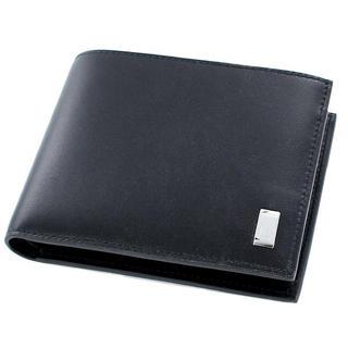 ダンヒル メンズ 二つ折財布 小銭入れ付 ブラック l2rf32a(折り財布)