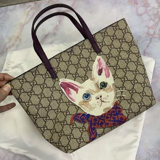 Gucci - 大人気 GUCCI グッチ 猫トートバッグ