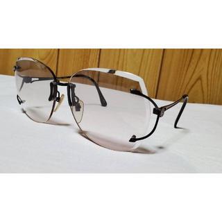 ランセル(LANCEL)の正規 ランセル クラシック エンブレムロゴ 眼鏡 黒×赤 サングラス〇男女兼用(サングラス/メガネ)