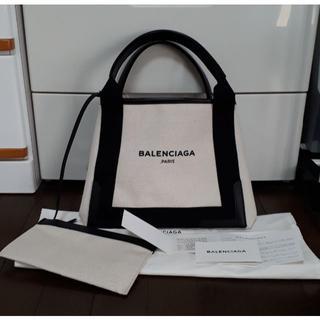 Balenciaga - BALENCIAGA トートバッグ ネイビーカバ キャンバス トート S バッグ