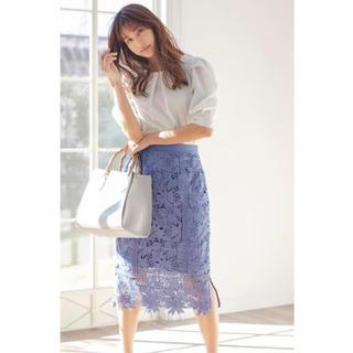 MISCH MASCH - 新品タグ付 美人百花掲載 ハシゴ透かしレーススカート