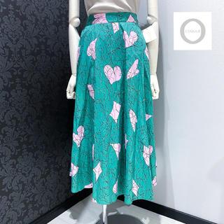 コキュ(COCUE)の新品未使用 ◆ コキュ ハート 柄 フレアスカート ロングスカート(ロングスカート)