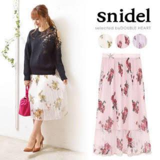 snidel - Snidel 花柄プリーツスカート