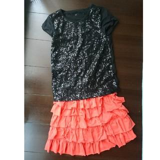 ギャップキッズ(GAP Kids)のGAP ギャップ スカートとTシャツのセット 140サイズ(Tシャツ/カットソー)