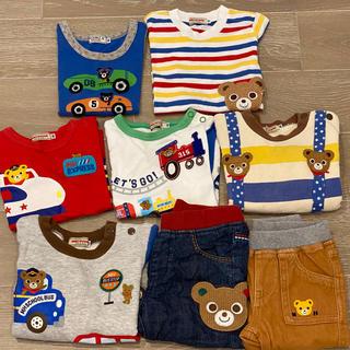 ミキハウス(mikihouse)のミキハウス Tシャツ トレーナー ロンT パンツ まとめ売り 70 80(Tシャツ)