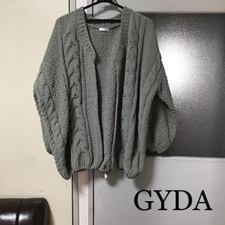 GYDA - GYDA ジェイダ  ボリュームスリーブニットカーデ