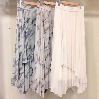 Mila Owen - 《新品タグ付き》ミラオーウェン アシメヘムエスパンディプリーツスカート ミント