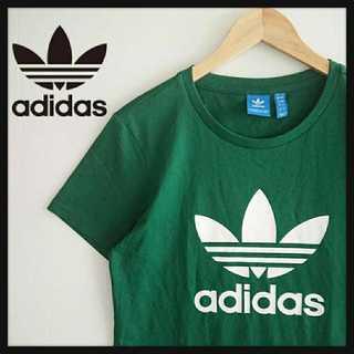 adidas - 799【丈長希少デザイン】人気カラー アディダスオリジナルス デカロゴ Tシャツ