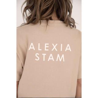 ALEXIA STAM - アリシアスタン ロゴTシャツ モカ