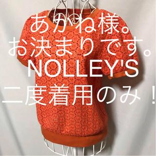 ノーリーズ(NOLLEY'S)の★NOLLEY'S/ノーリーズ★二度着用のみ★半袖カットソー38(M.9号)(カットソー(半袖/袖なし))