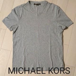 マイケルコース(Michael Kors)のMichael Kors Vネック Tシャツ マイケル・コース グレー Sサイズ(Tシャツ/カットソー(半袖/袖なし))