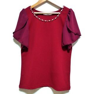 EMSEXCITE - エムズエキサイト (Emsexcite)フレア袖 半袖カットソー 赤