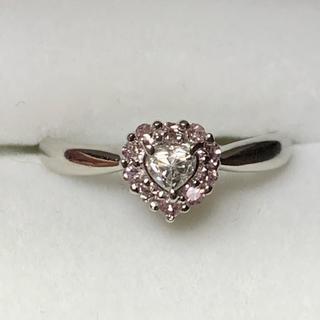 プラチナ ピンクダイヤモンド リング