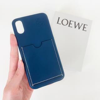 ロエベ(LOEWE)のラスト1【新品・希少品】LOEWE iPhoneX/XS iPhoneケース 紺(iPhoneケース)