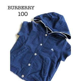バーバリー(BURBERRY)のBURBEREEY 半袖パーカー 100cm(ジャケット/上着)