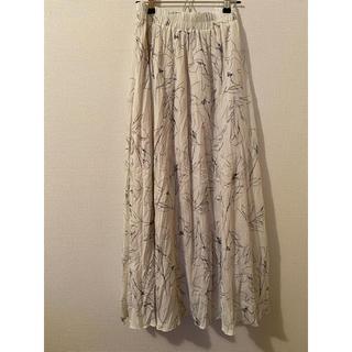 トゥデイフル(TODAYFUL)のwillfully drawing flower washer L/skirt(ロングスカート)