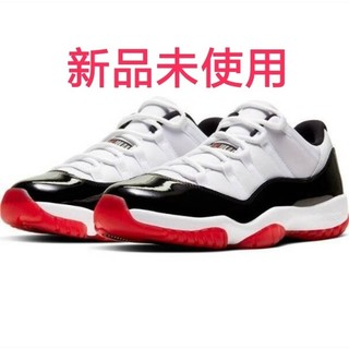NIKE - 27.5 NIKE AIR JORDAN 11 LOW  GYM RED