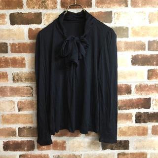 AMACA - 【AMACA】リボンタイVネック無地長袖Tシャツ