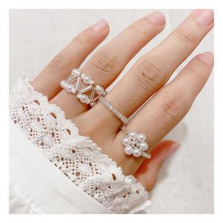 ビーズリング 韓国 ビーズ 指輪 #54(リング)