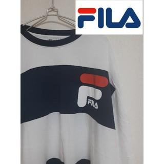 フィラ(FILA)の【FILA】ビッグサイズロゴボーダーTシャツ(Tシャツ/カットソー(半袖/袖なし))