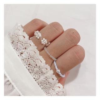 ビーズリング 韓国 ビーズ 指輪 #52(リング)