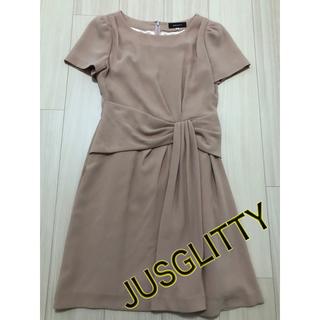 ジャスグリッティー(JUSGLITTY)のジャスグリッティー ワンピース レディース アセテート ドレス 2 M相当(ひざ丈ワンピース)