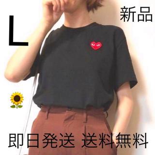 COMME des GARCONS - 入手困難 プレイコムデギャルソン レディース Tシャツ Lサイズ ブラック