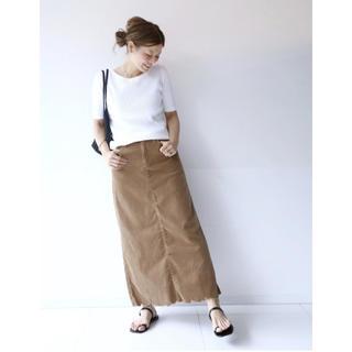 ドゥーズィエムクラス(DEUXIEME CLASSE)のDeuxieme Classe SURT コーデュロイマキシ スカート 36(ロングスカート)