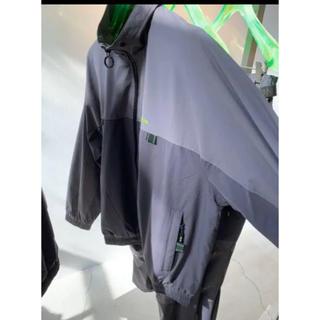 マルシェノア  レア ロゴ S グレー 美品 ナイロン ジャケット